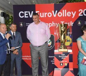 Величко Родопски и Георги Титюков посрещнаха Купата на Евроволей 2021 в Пловдив