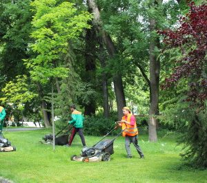 Дежурни екипи се грижат за парковете по празниците, продължава косенето на тревните площи