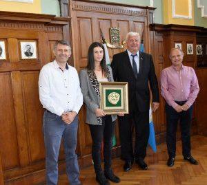 Кметът Здравко Димитров изпрати Цвети Пиронкова за Париж с пожелание за успех